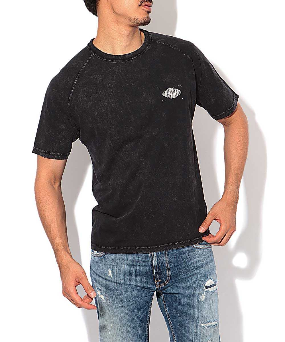 フェードラグランクルーネックTシャツ