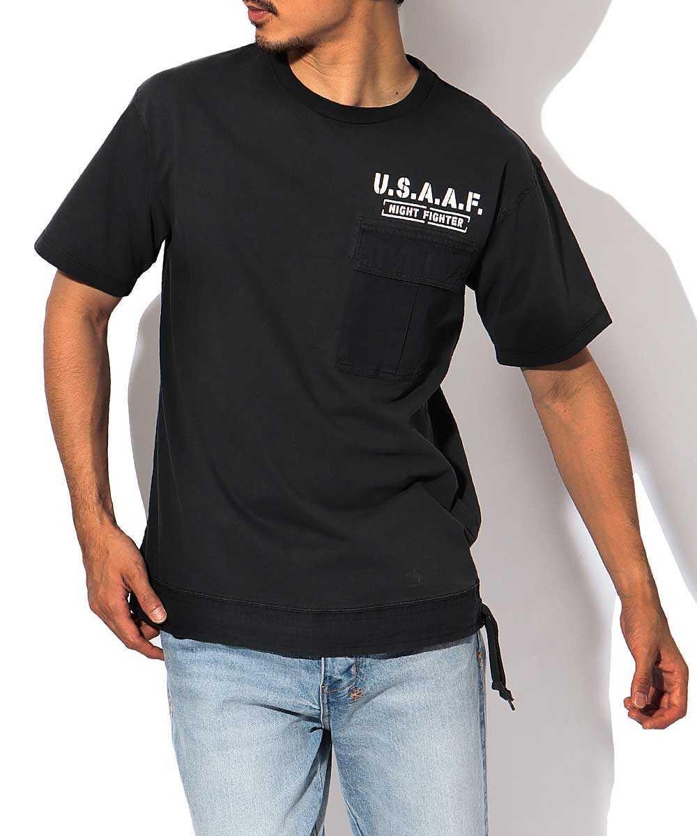 ポケットクルーネックTシャツ