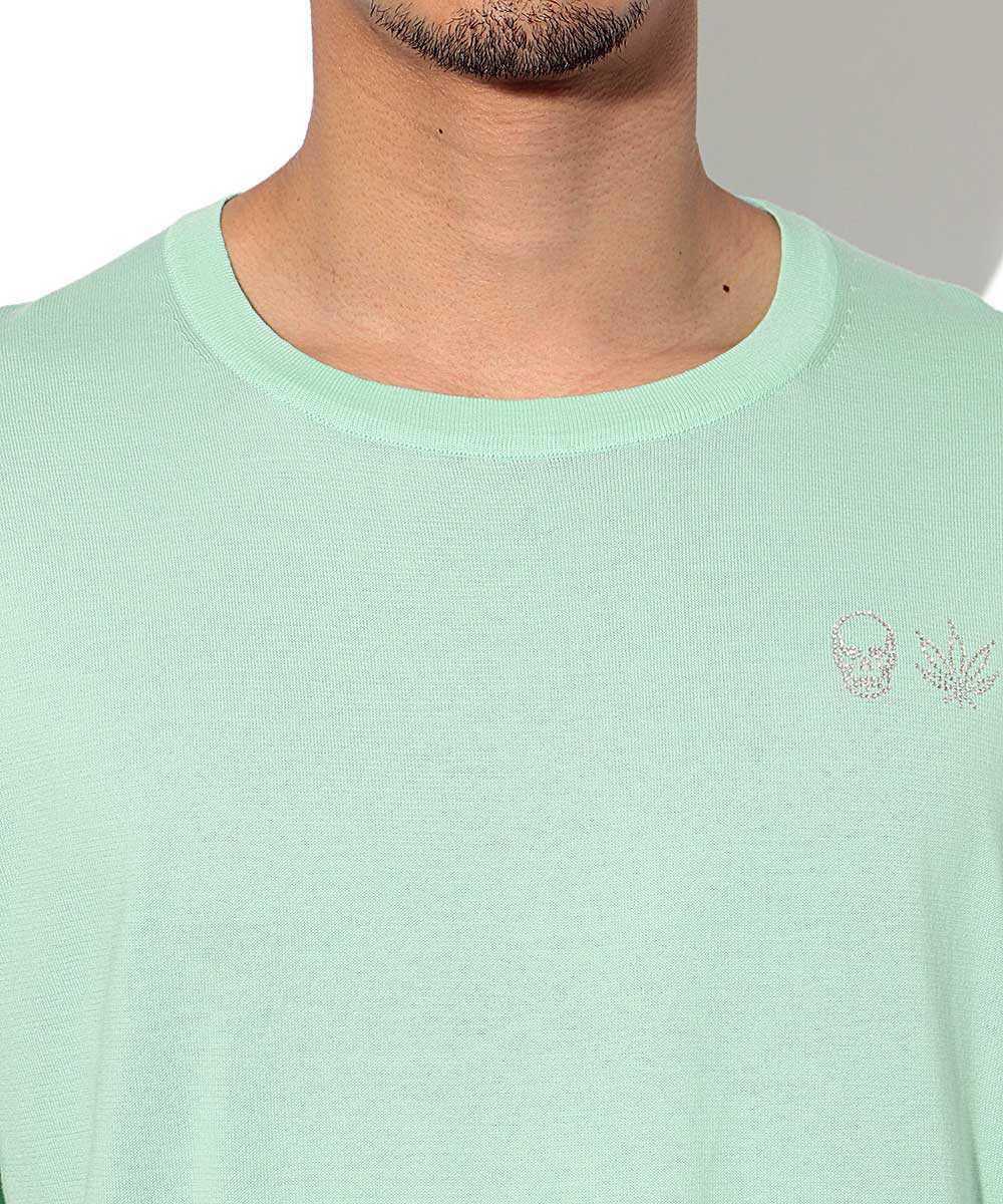 ニットクルーネックTシャツ