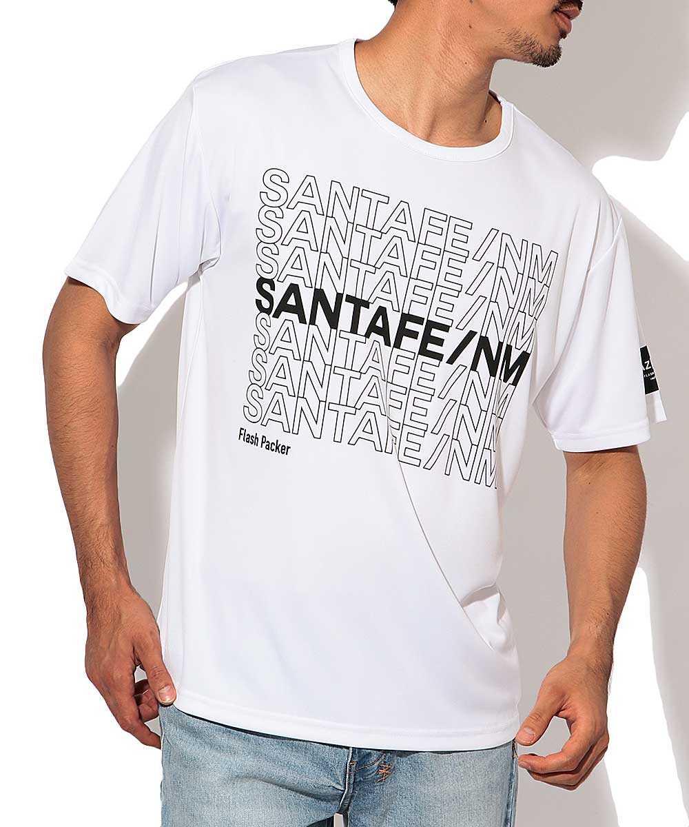 ナノ撥水プリントクルーネックTシャツ