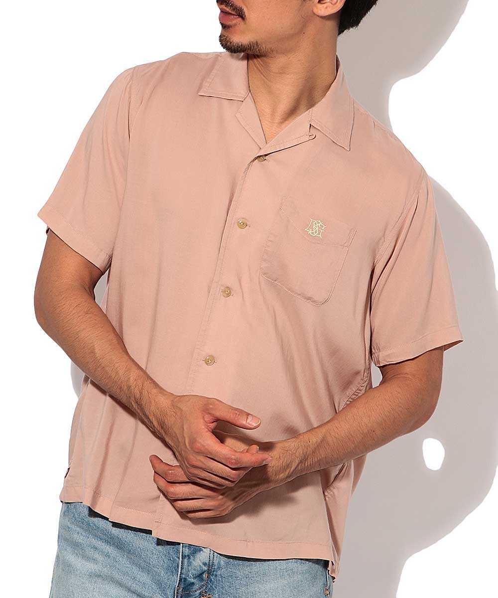 テンセル開襟半袖シャツ