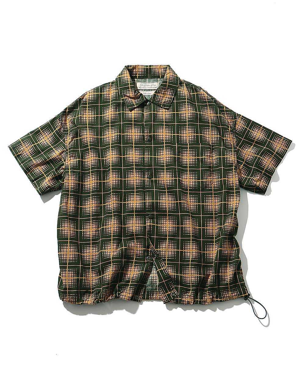 チェック柄オープンシャツ