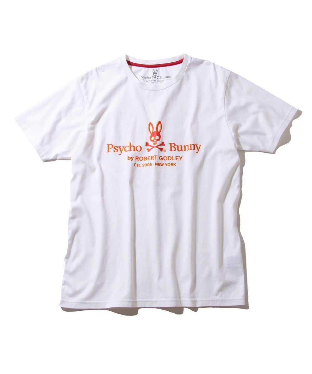 サイコバニー×チュッパチャプス ロゴプリントクルーネックTシャツ