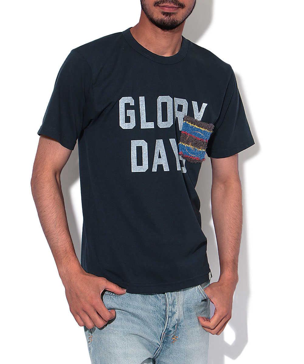 """Glory Days""プリントクルーネックTシャツ"