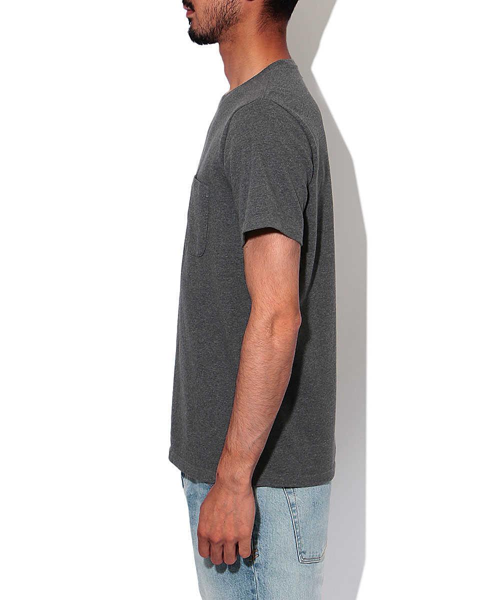 """""""ヘビーバッグ""""ポケットクルーネックTシャツ"""