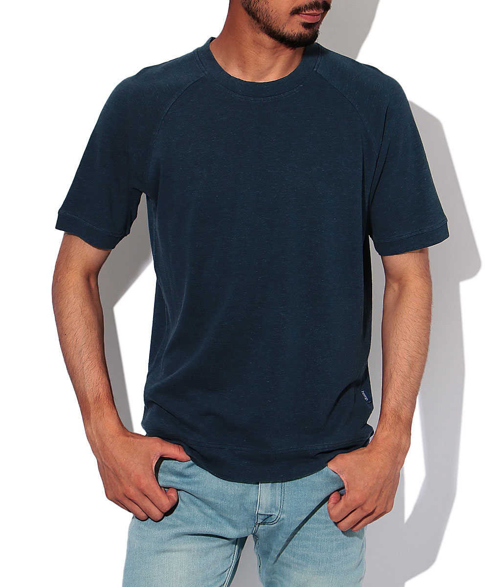 ヘンプコットンクルーネックTシャツ
