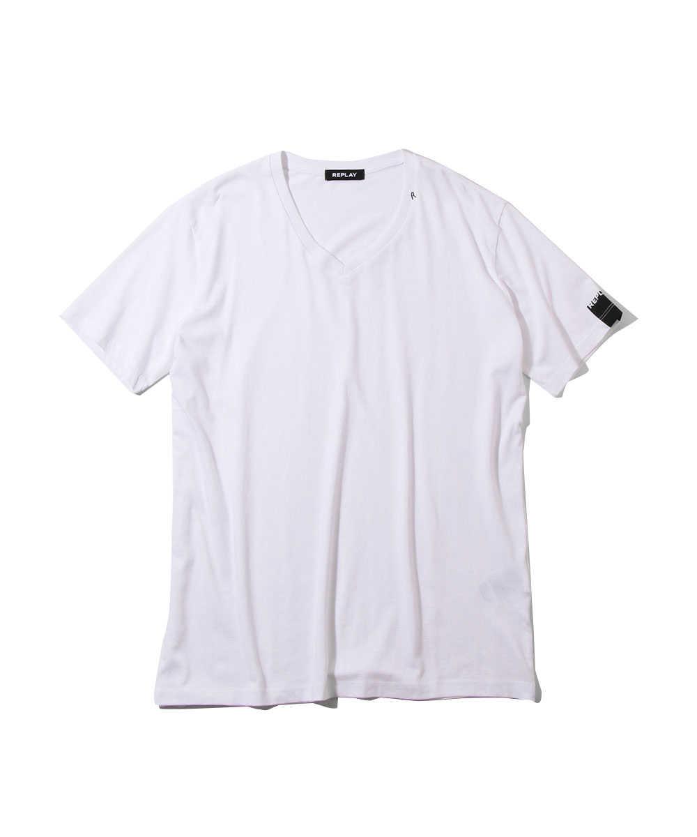 ロゴVネックTシャツ