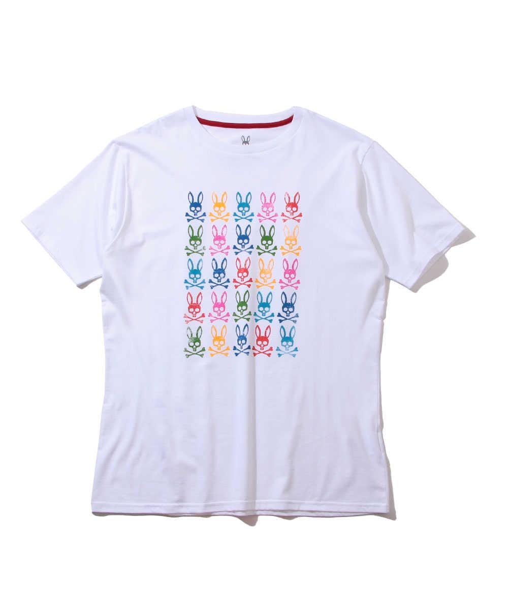 マルチバニーロゴプリントクルーネックTシャツ