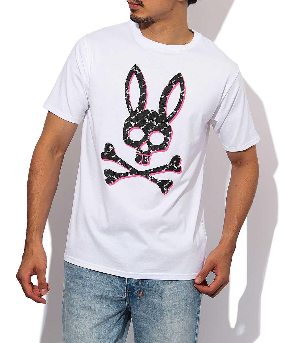 モノグラムバニーロゴプリントクルーネックTシャツ