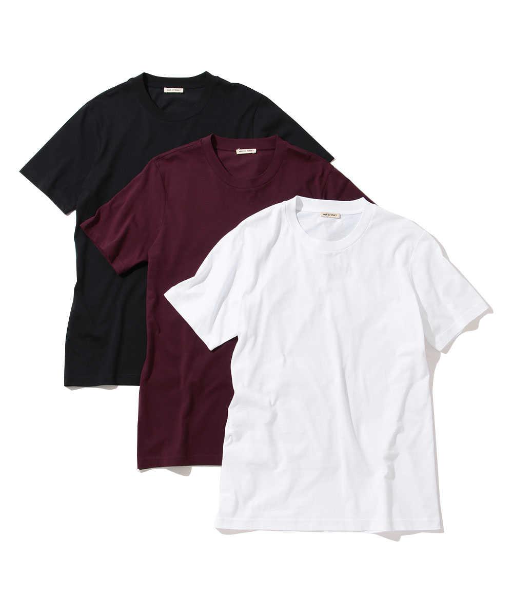 3パッククルーネックTシャツ