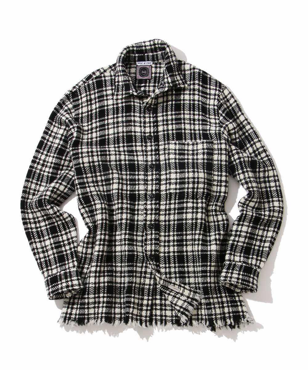 カシミヤフリンジシャツ