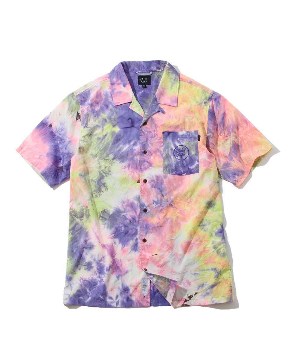 ネオンタイダイ半袖シャツ