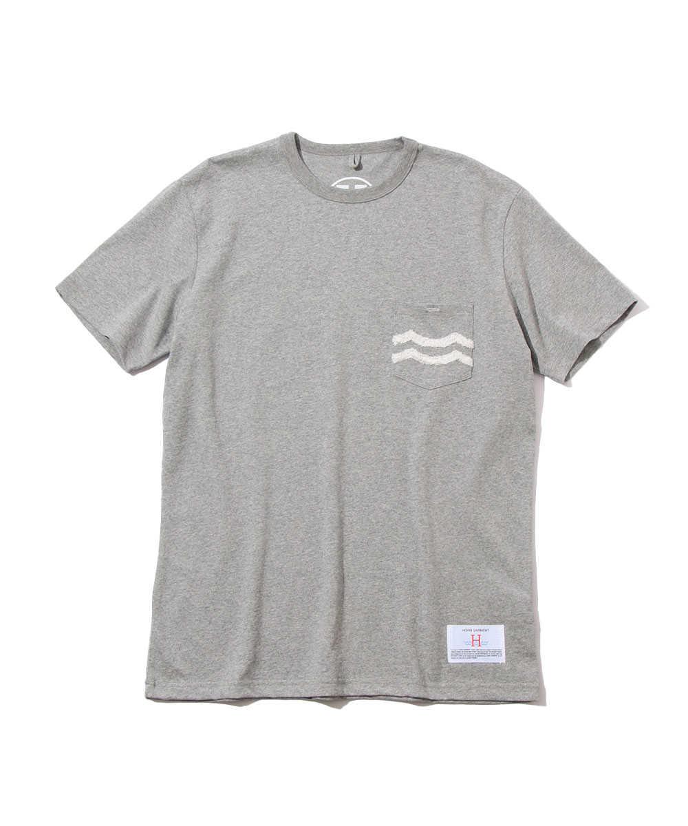 """""""WAVY""""ポケットクルーネックTシャツ"""