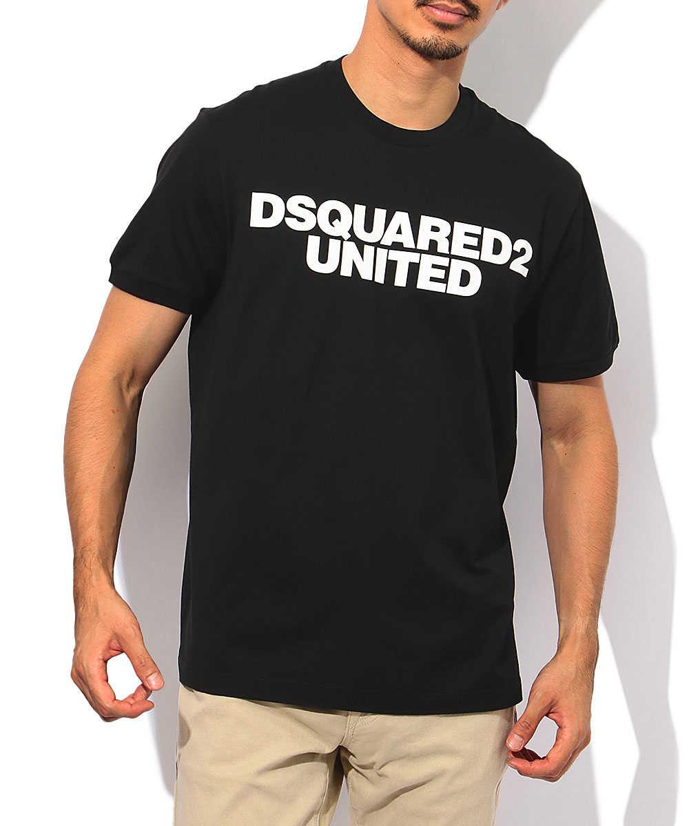 """""""DSQUARED2 UNITED""""プリントクルーネックTシャツ"""