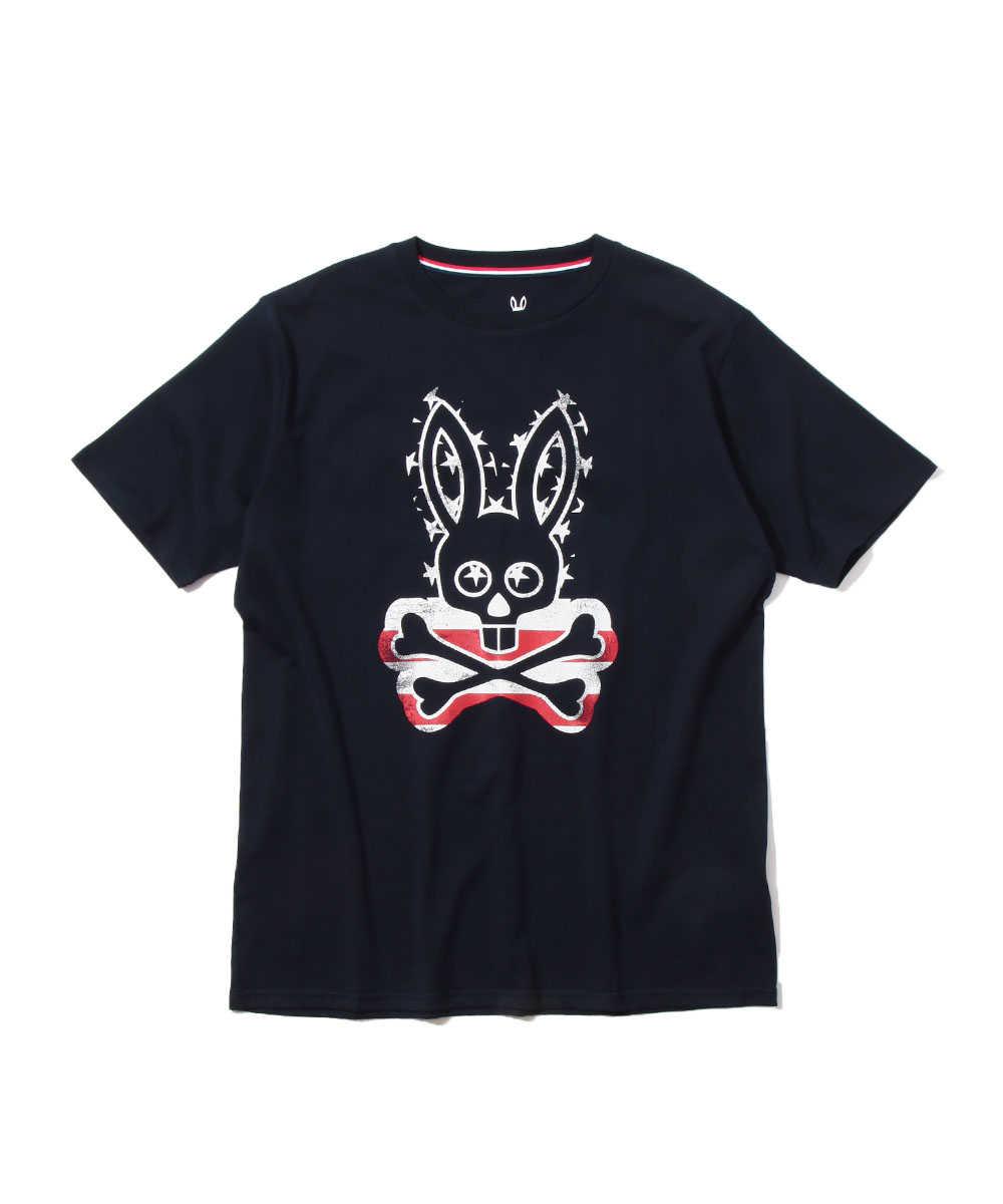 ビッグロゴフラッグ プリントクルーネックTシャツ