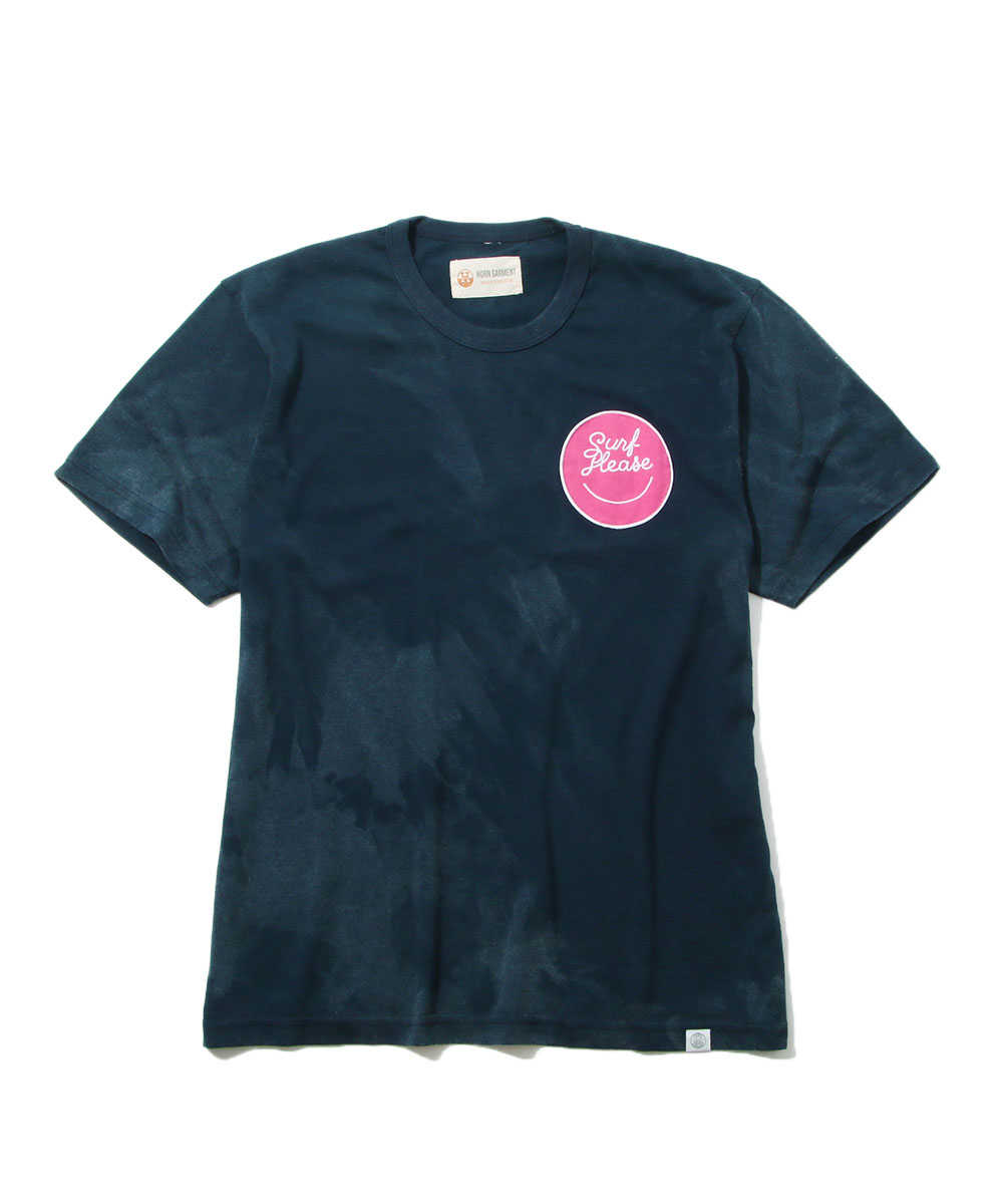 """Surf Please Acid""ロゴクルーネックTシャツ"