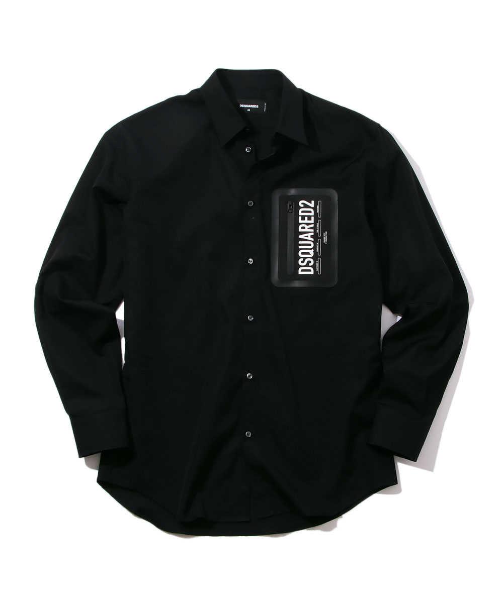 ブラックコットンシャツ
