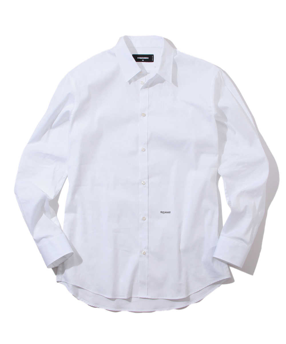 ホワイトコットンシャツ