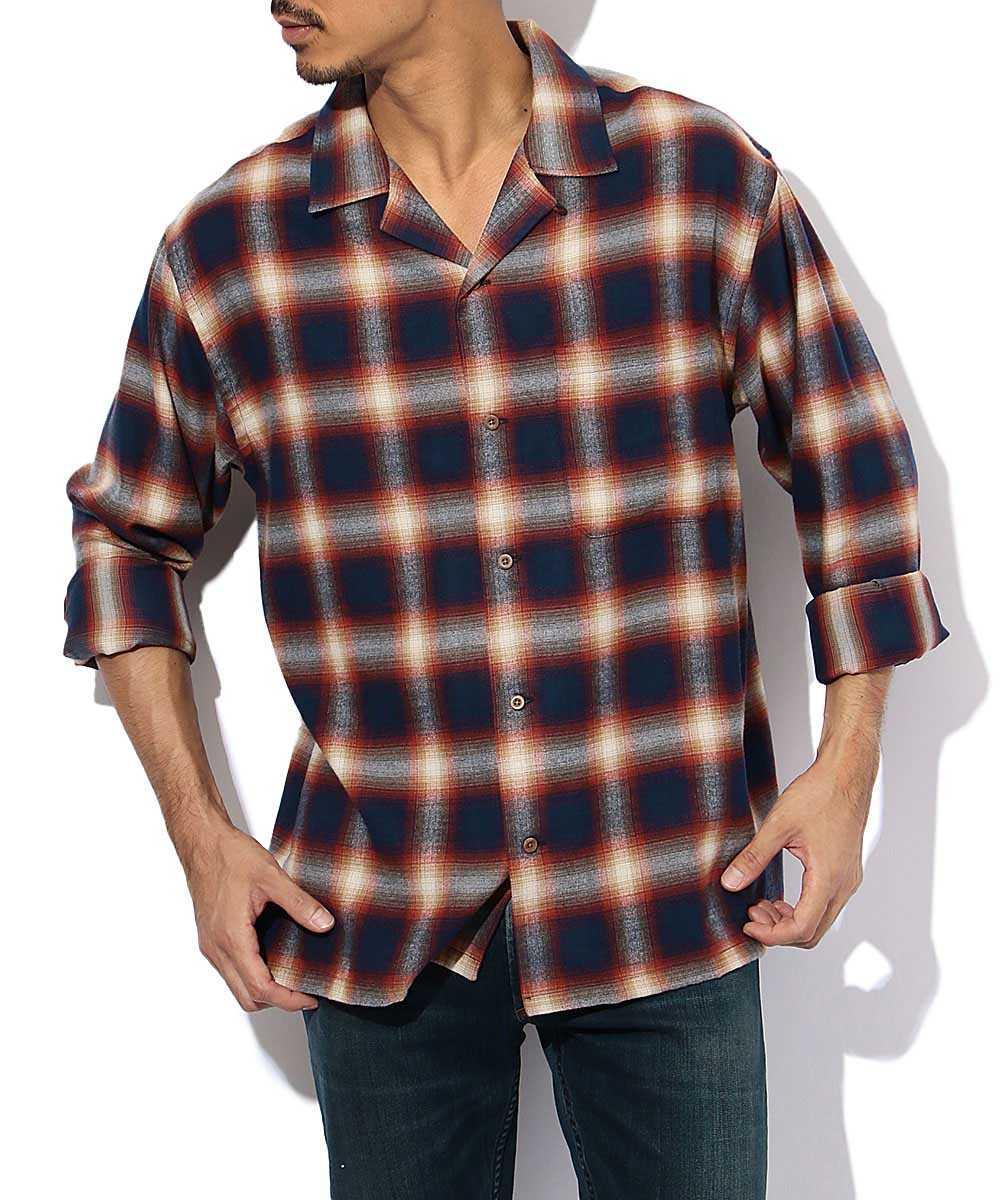 オーバーサイズ開襟シャツ