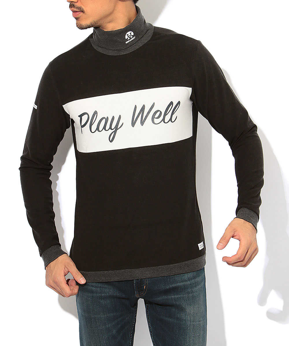 """""""PLAY WELL""""タートルネックカットソー"""