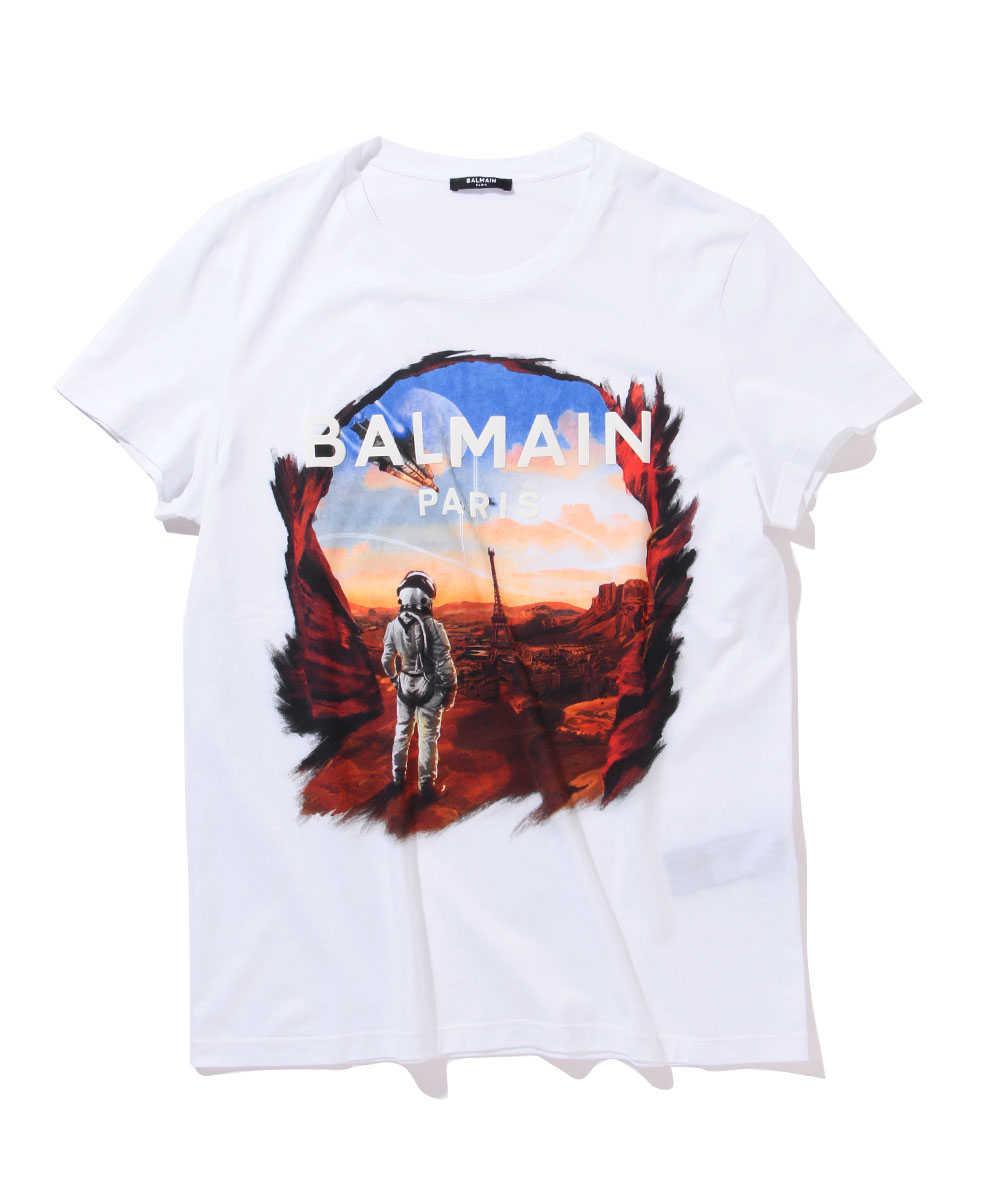 ラバープリントクルーネックTシャツ