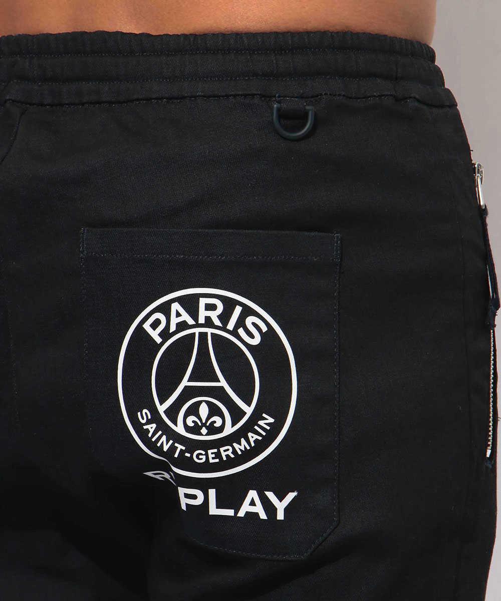 パリ・サンジェルマン×リプレイ ブラックデニムパンツ