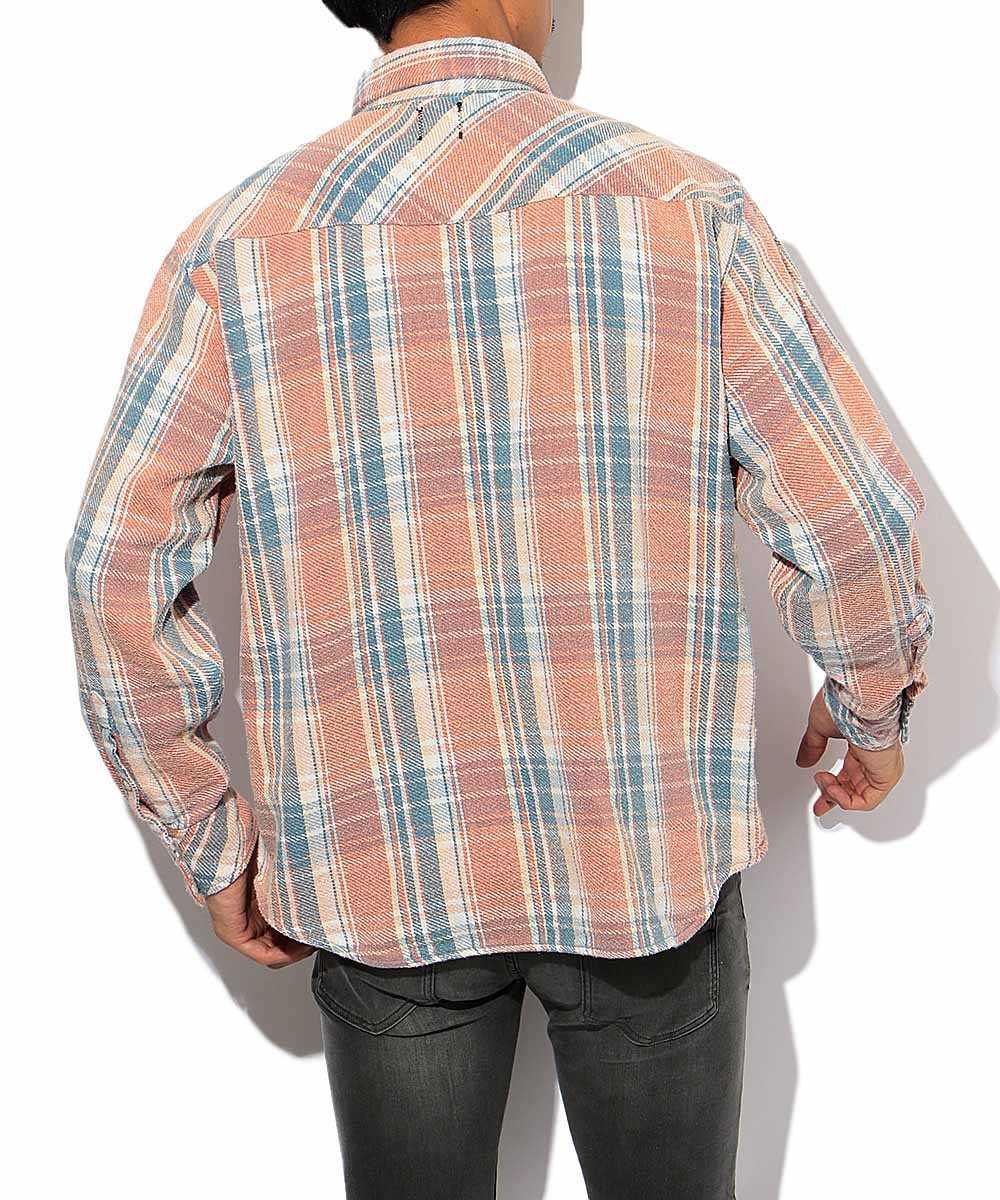 チェックスナップシャツ