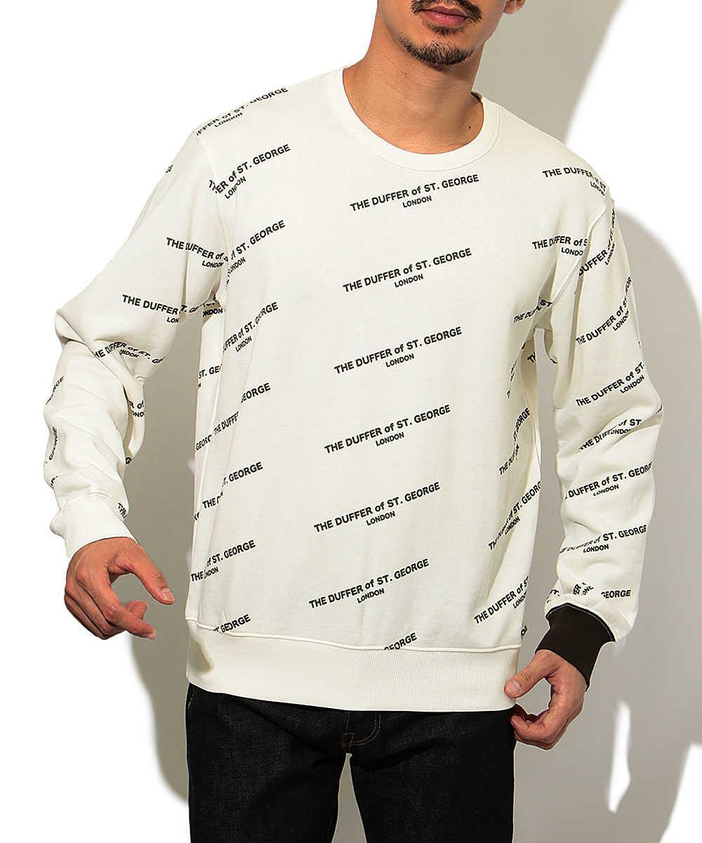 総柄プリントスウェットシャツ