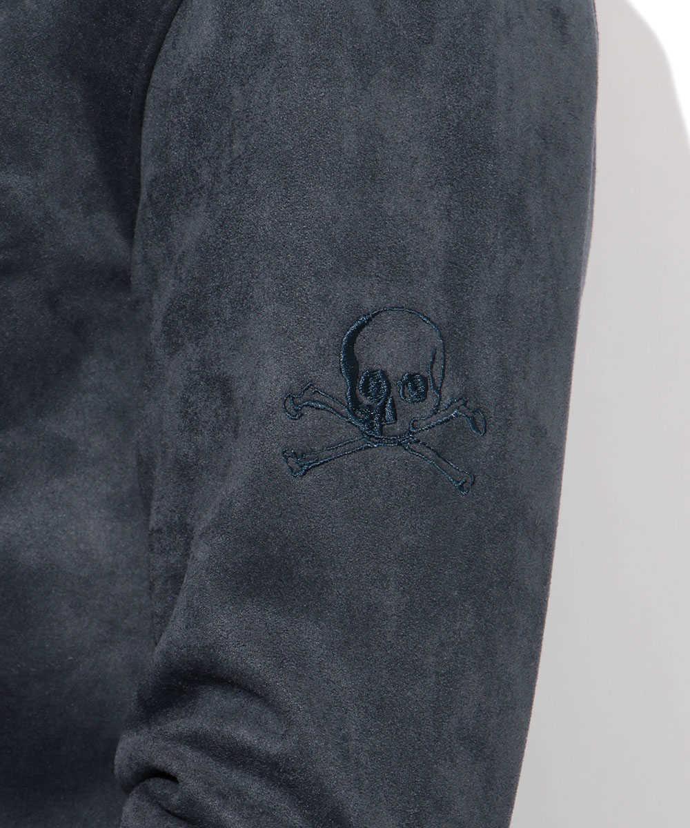 スウェードフーデットレザージャケット