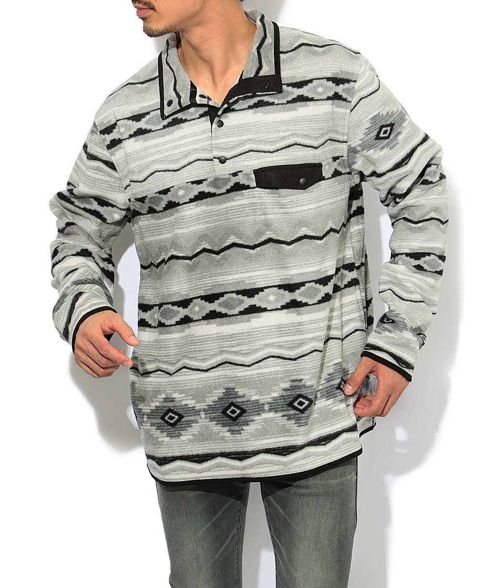フリーススナップジャケット