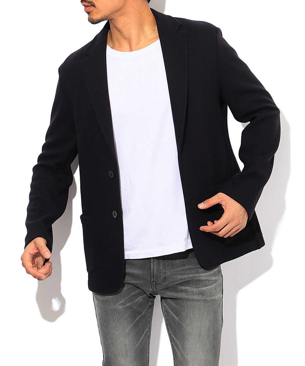 カシミヤ混ウールテイラードジャケット