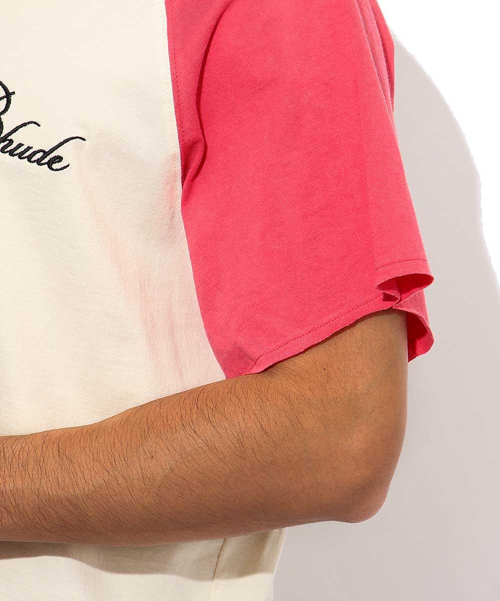 ラグランロゴクルーネックTシャツ