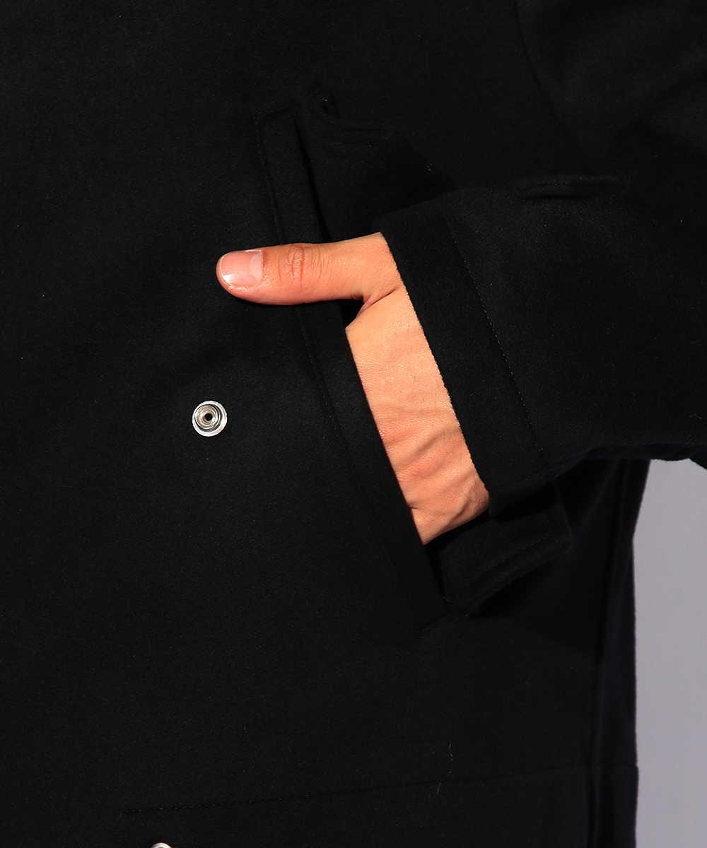 ウールフルジップコート