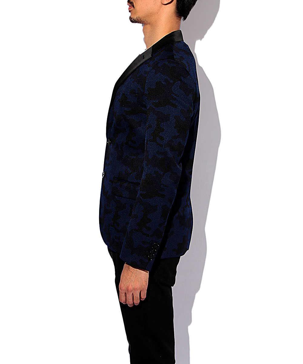 カモ柄テイラードジャケット