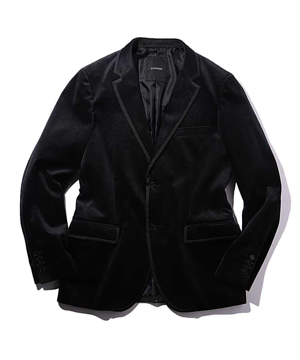 ベロアテイラードジャケット