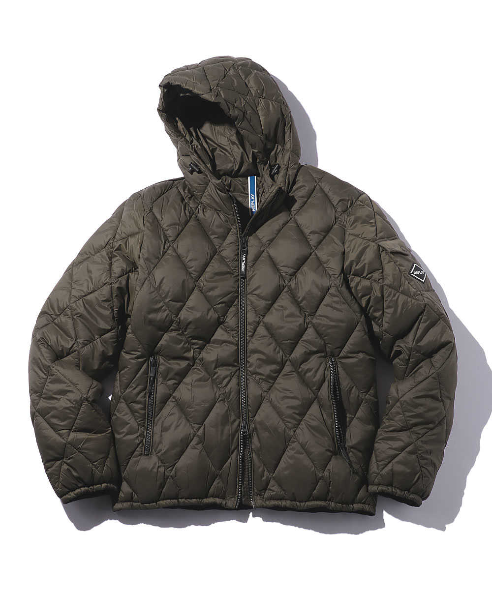 キルティング中綿入りジャケット