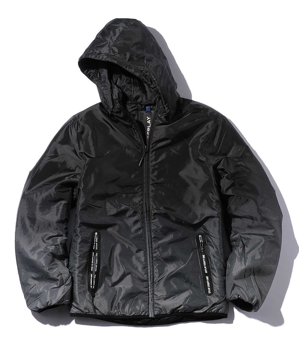 グラデーション中綿入りジャケット
