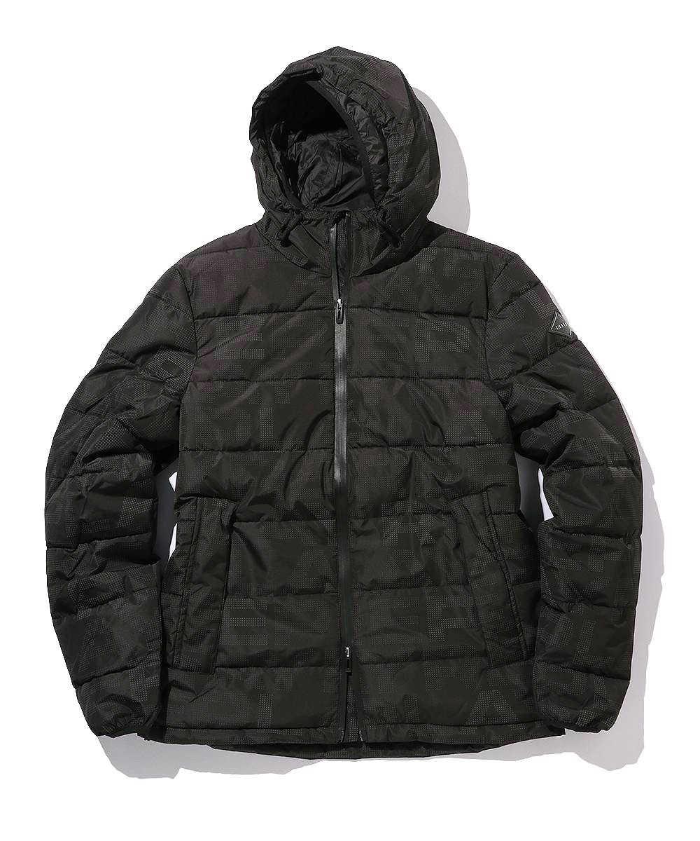 ロゴプリント中綿入りジャケット