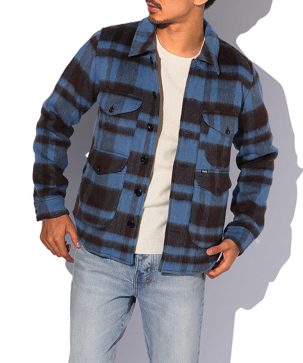 プレイドファーワークシャツジャケット