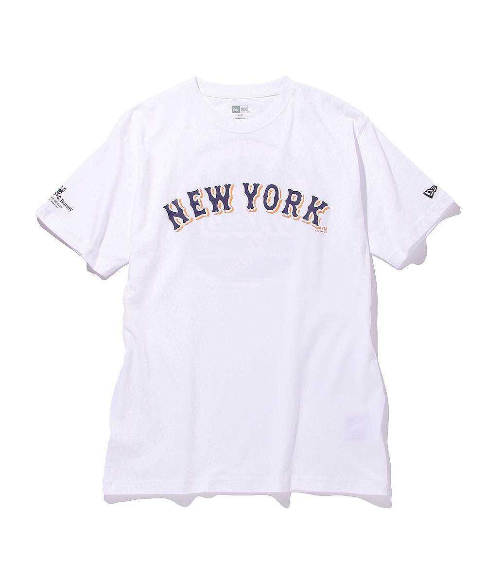 サイコバニー×ニューヨーク・メッツ×ニューエラ クルーネックTシャツ