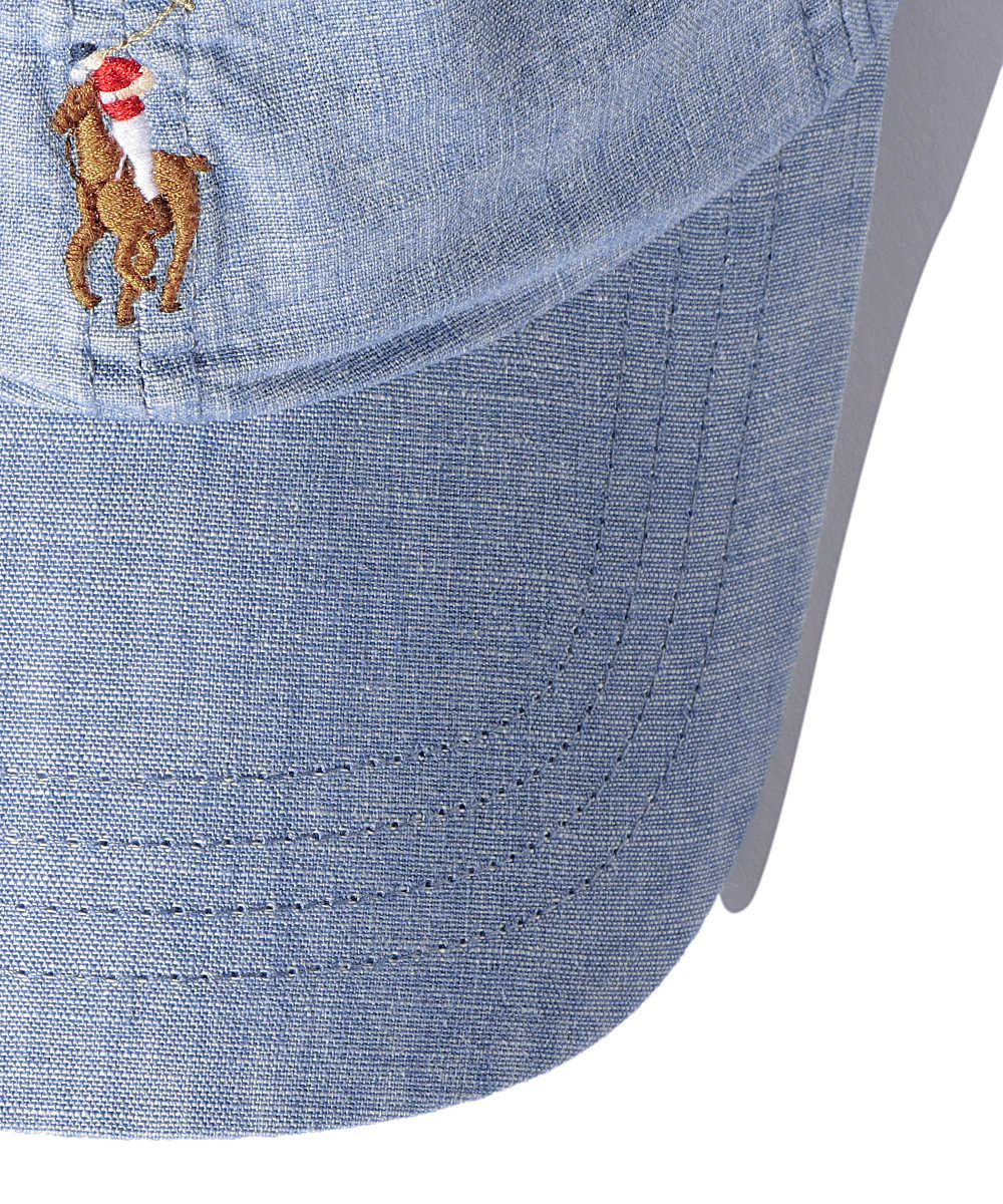 ロゴ刺繍デニムキャップ