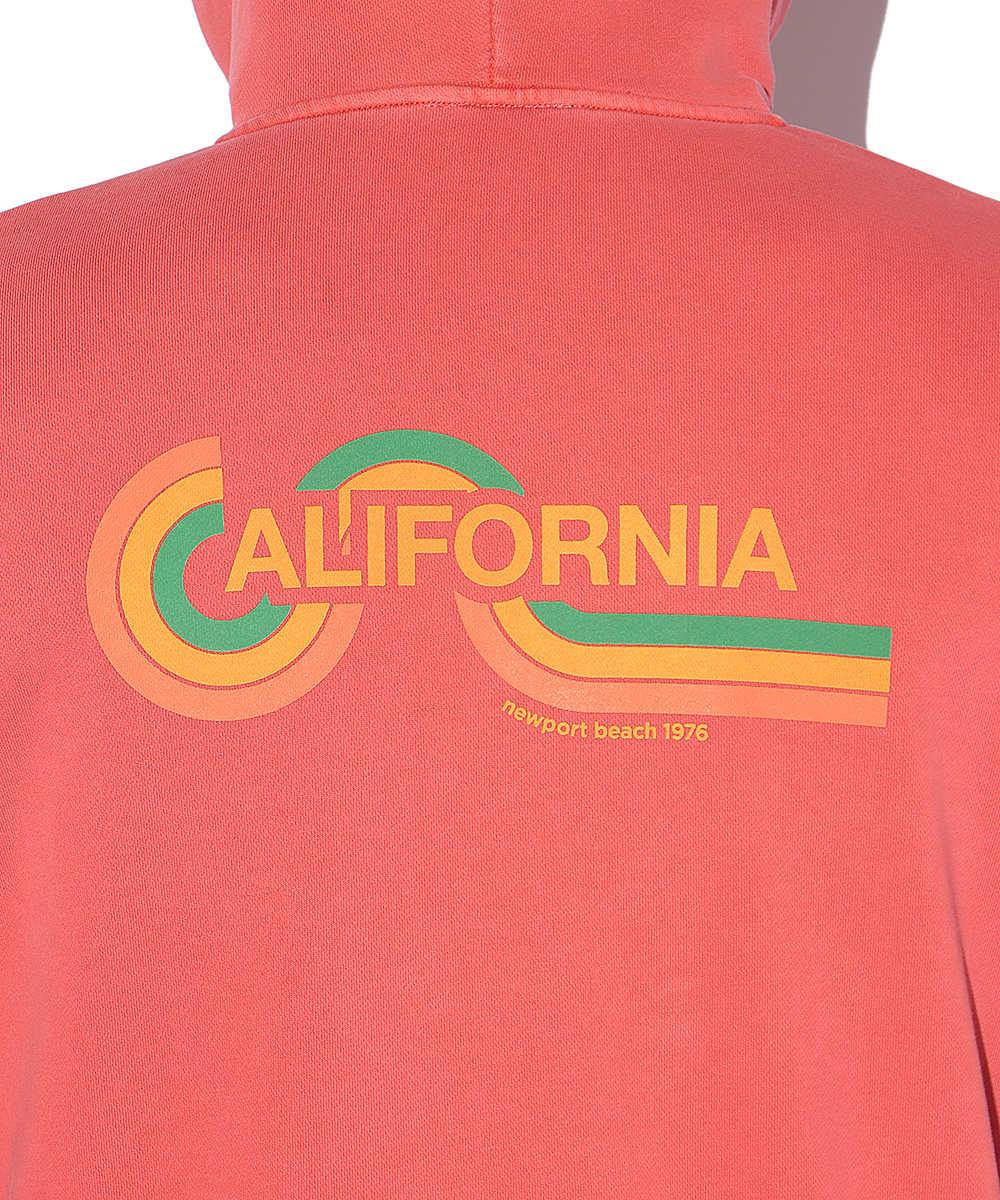【別注・限定商品】カリフォルニアプリント製品染めジップアップパーカ