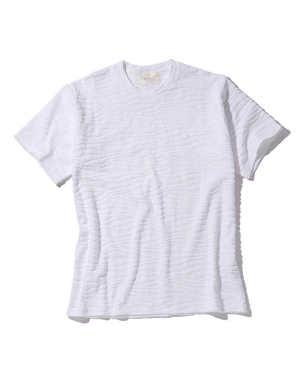 パイルジャガードクルーネックTシャツ