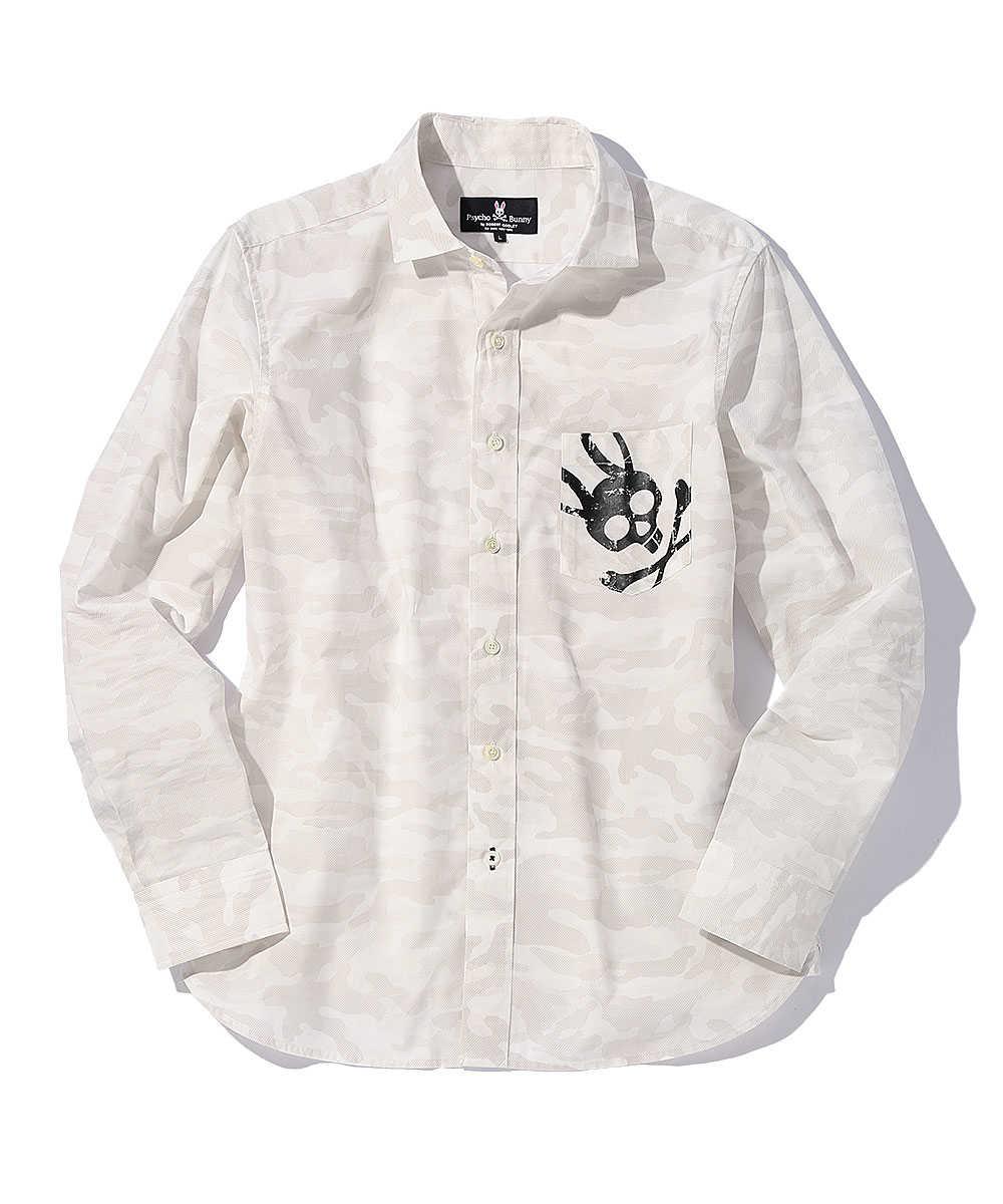 カモフラバニープリントシャツ