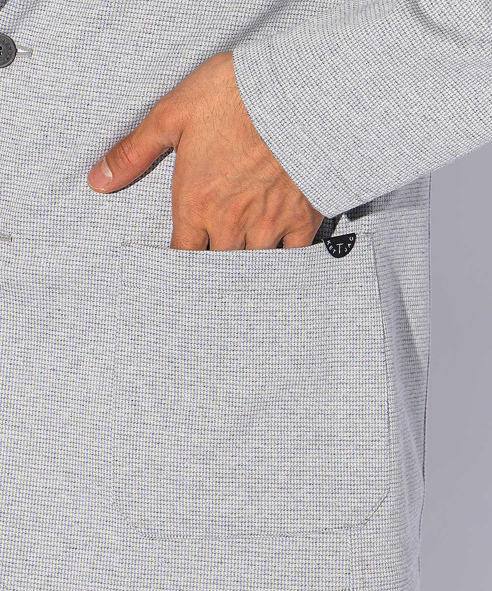 マイクロ千鳥柄テイラードジャケット