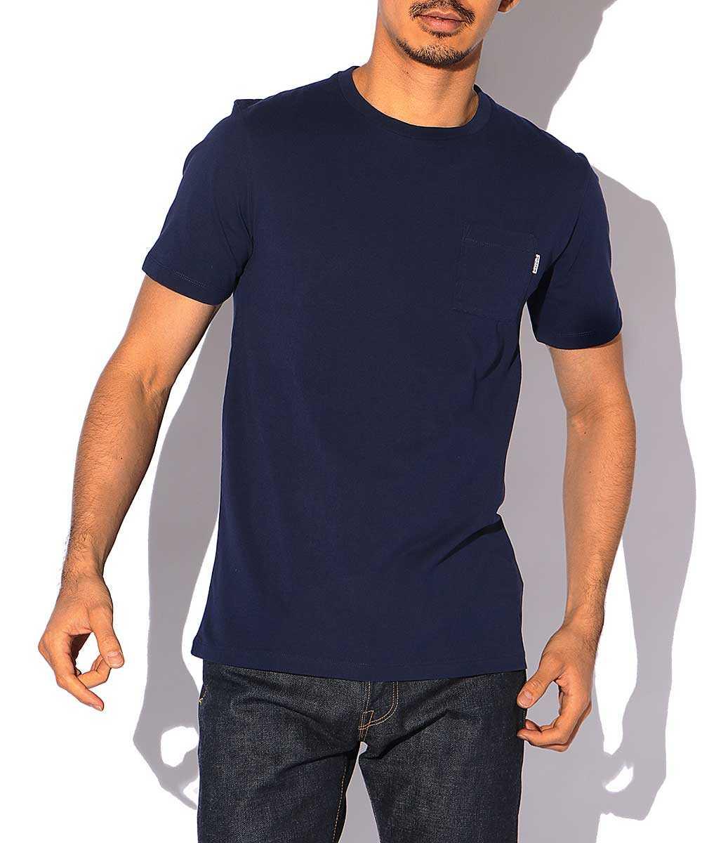 コットンポケットクルーネックTシャツ