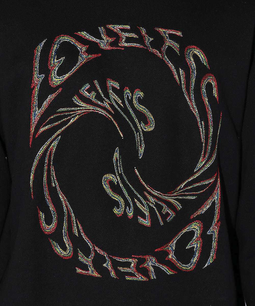 ロゴ刺繡スウェットシャツ