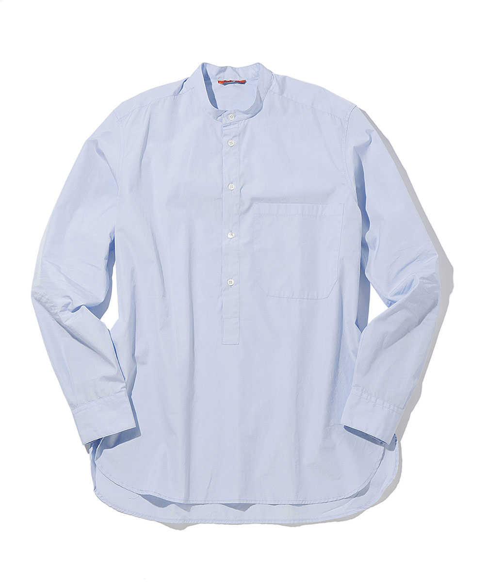 プルオーバースタンドカラーシャツ