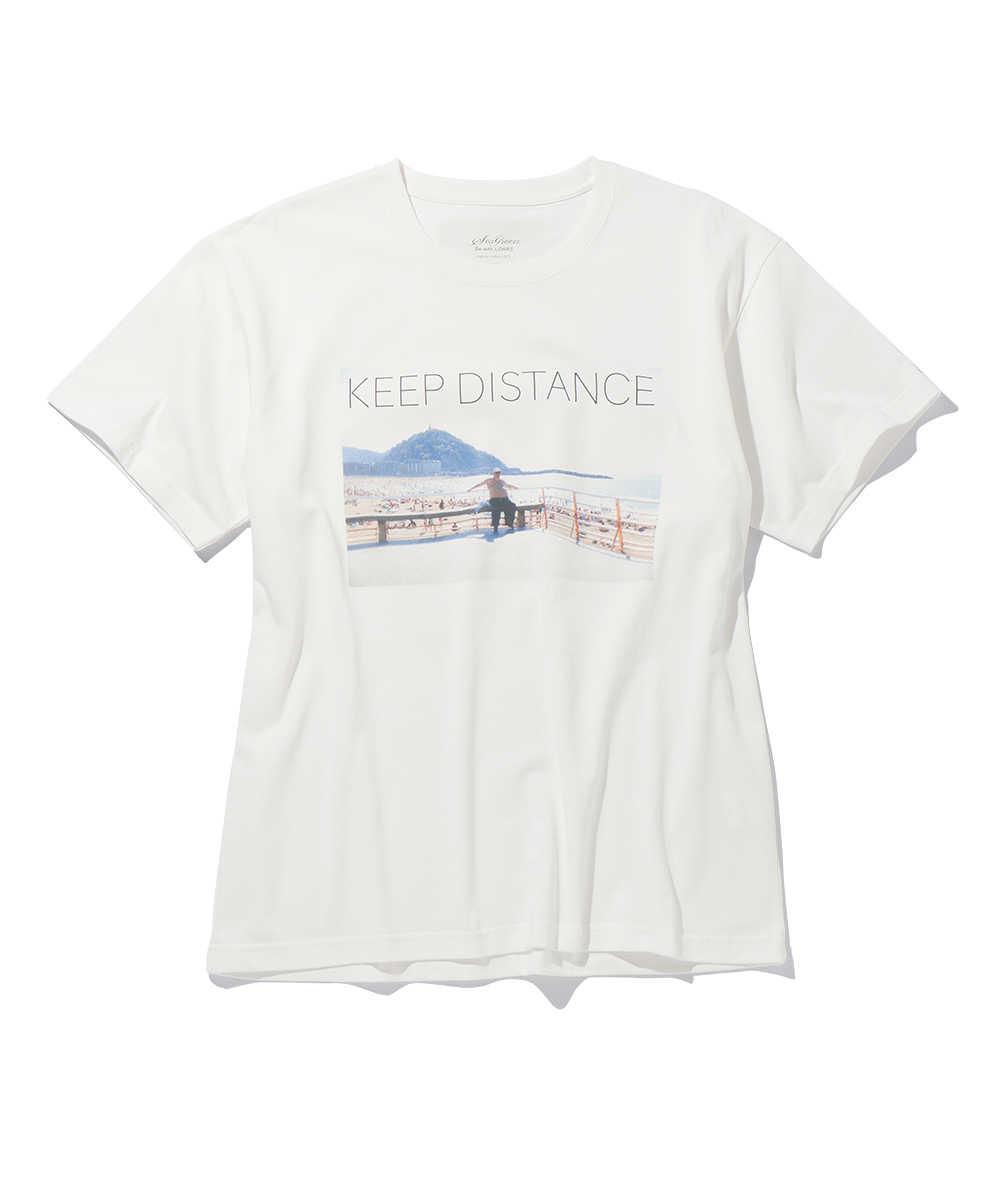 オーガニックコットン転写プリントクルーネックTシャツ