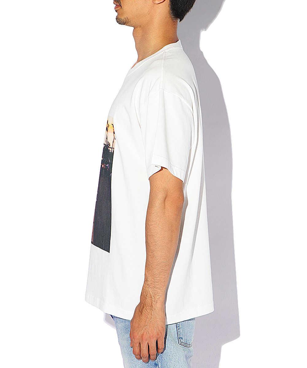 オーガニックコットンプリントクルーネックTシャツ